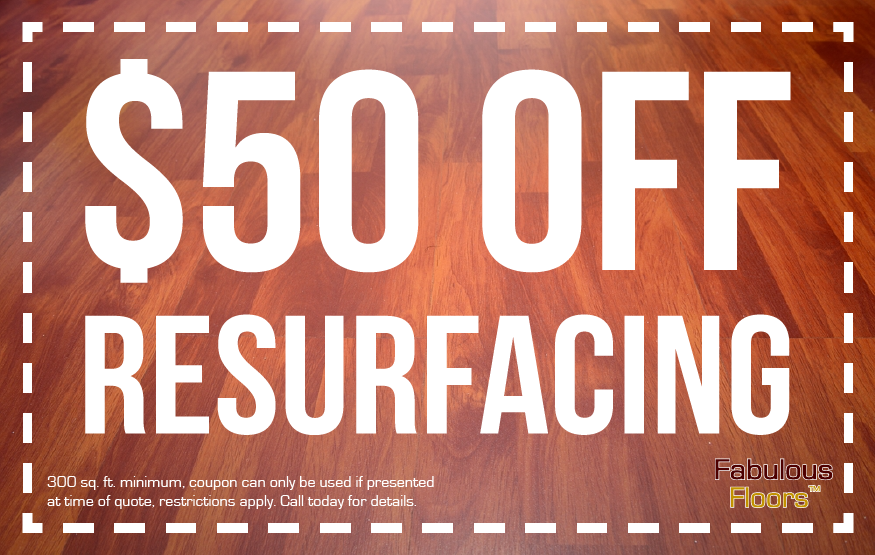 Get $50 off your floor resurfacing project