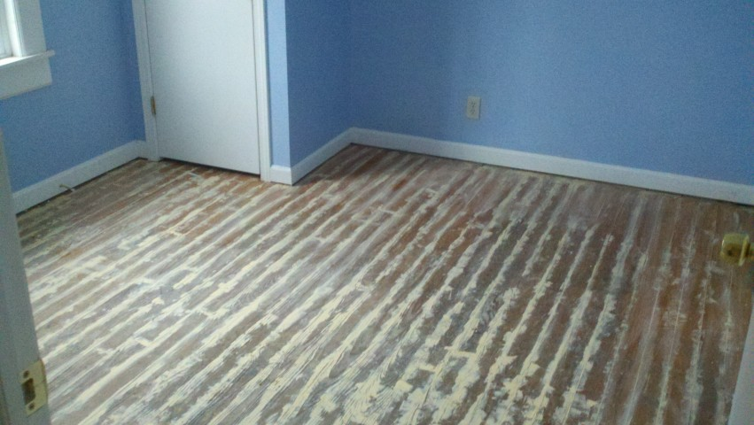 wood floor refinishing before and after in Atlanta, GA