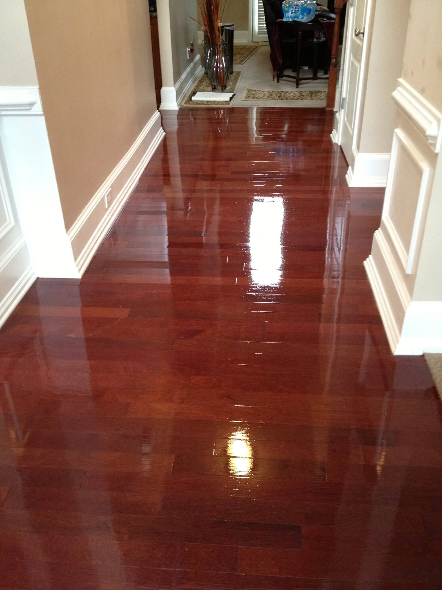 gloss finish wood floor resurfacing Atlanta, GA