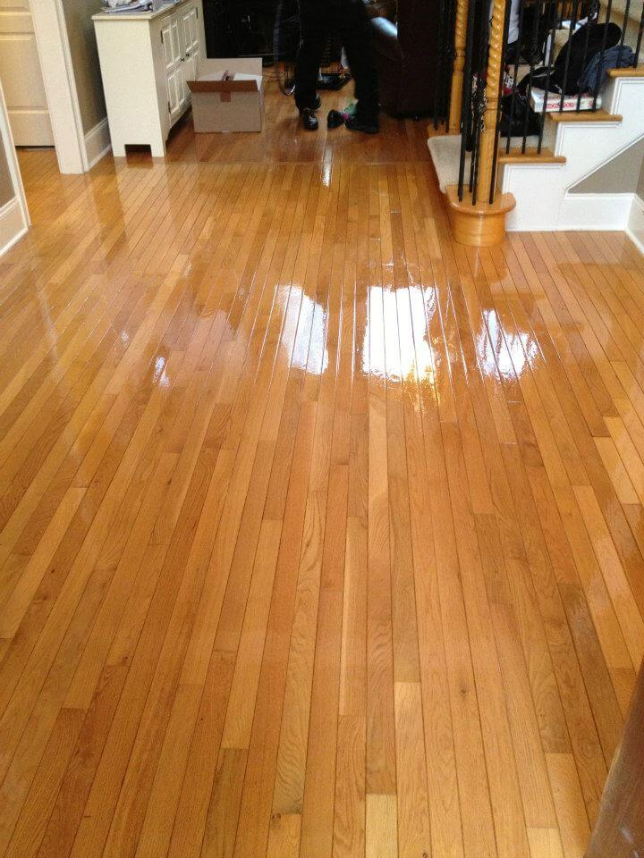 wood floor resurfacing Atlanta, GA living room after photo