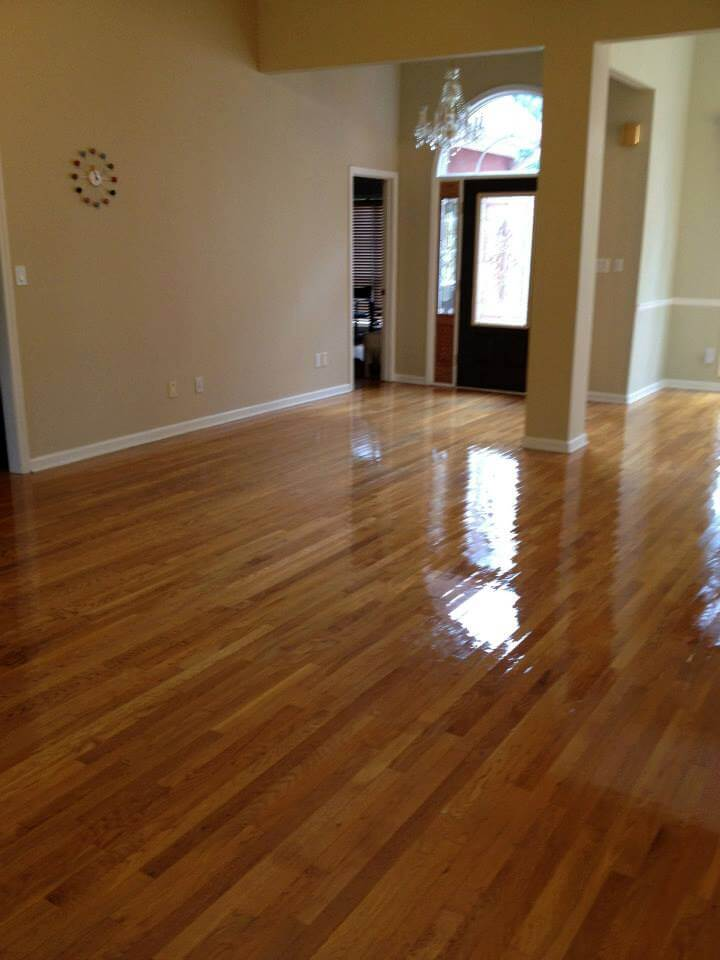 home after wood floor resurfacing treatment in Atlanta, GA