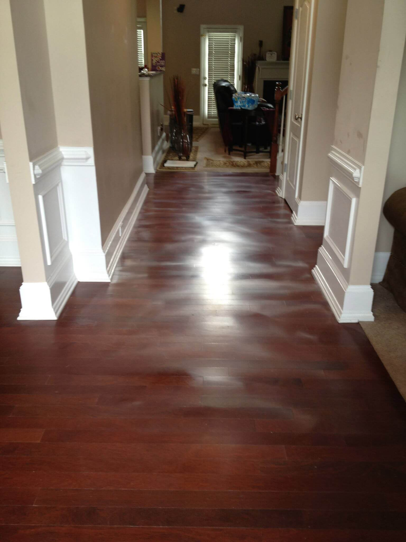 before wood floor resurfacing treatment Atlanta, GA