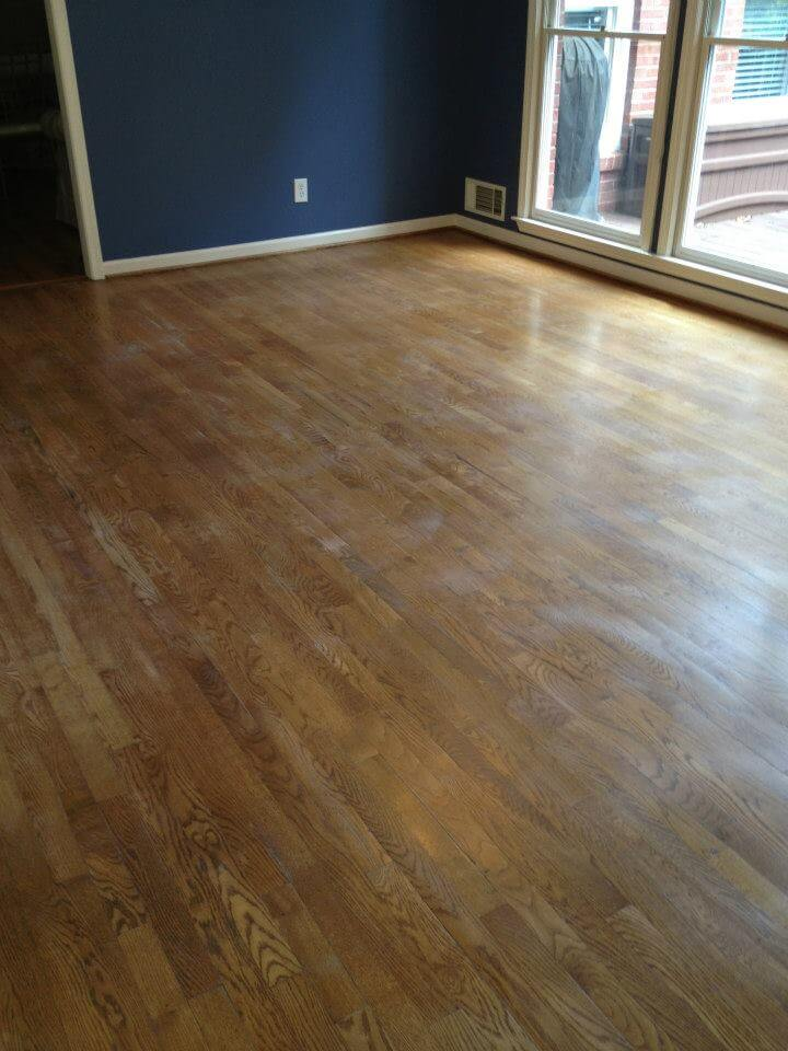 before and after wood floor resurfacing in Atlanta, GA