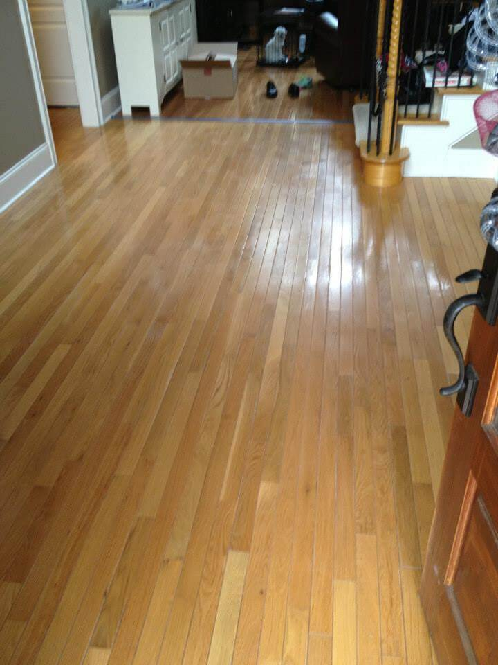 wood floor resurfacing Atlanta, GA living room before photo