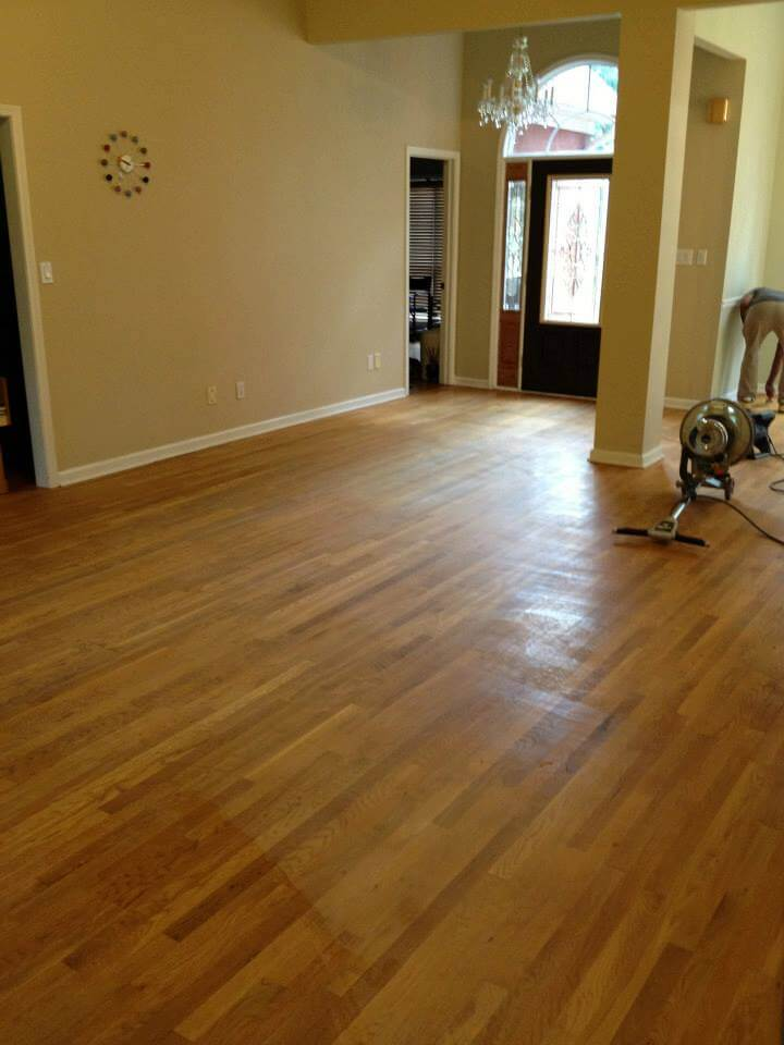 home before wood floor resurfacing treatment in Atlanta, GA