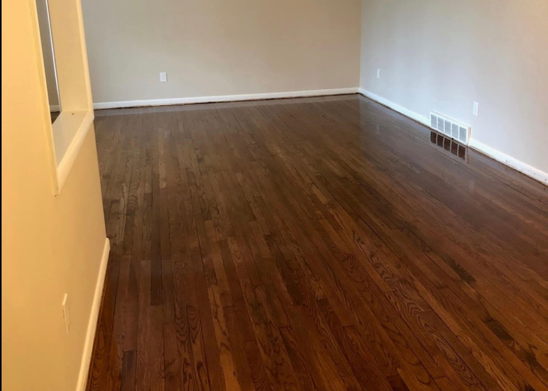 resurfaced hardwood floor in atlanta, ga