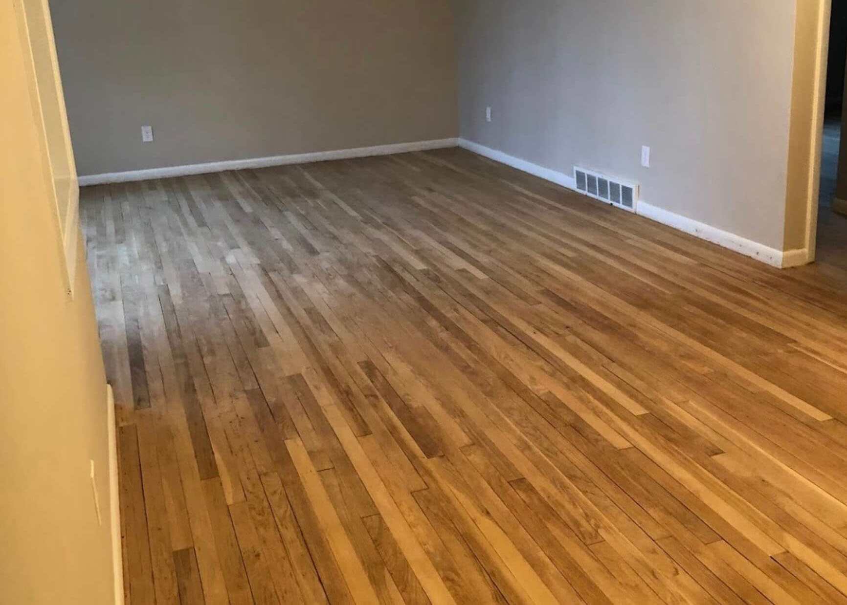 wood floor in need of resurfacing