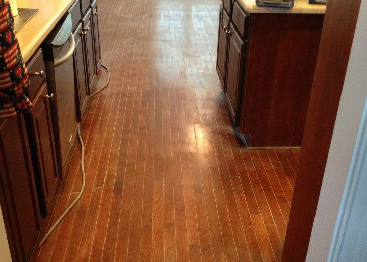 damaged hardwood flooring