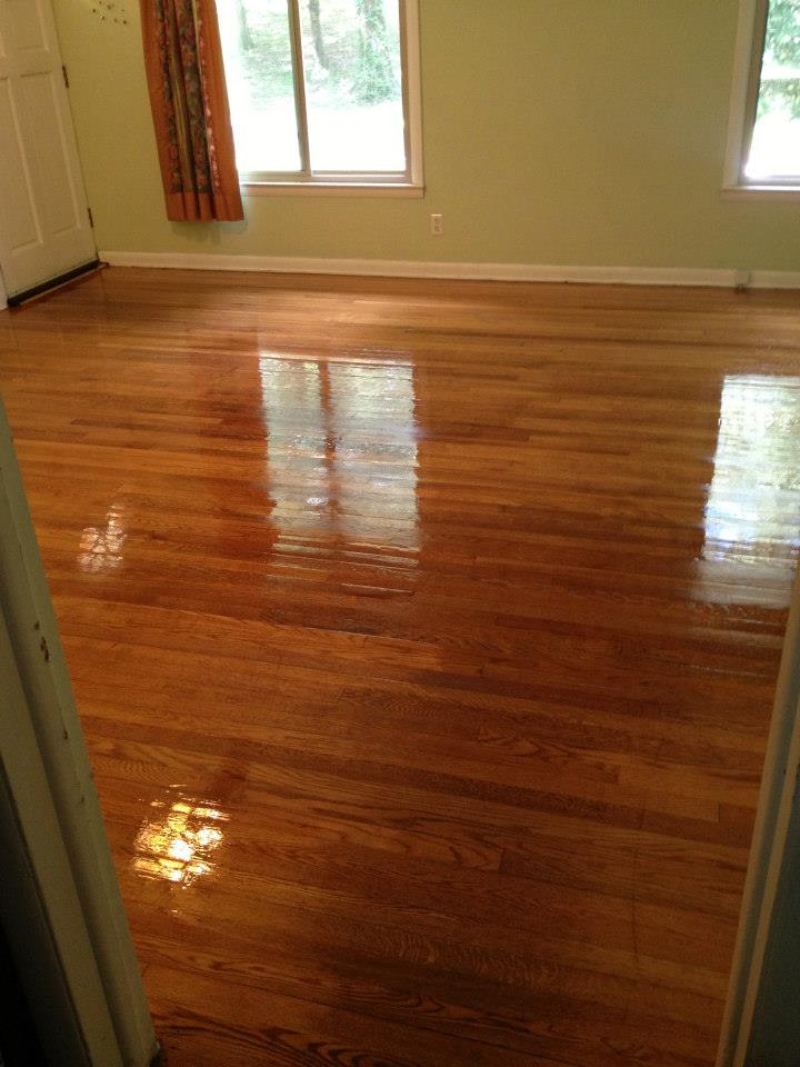 After hardwood floor refinishing in Alpharetta, GA