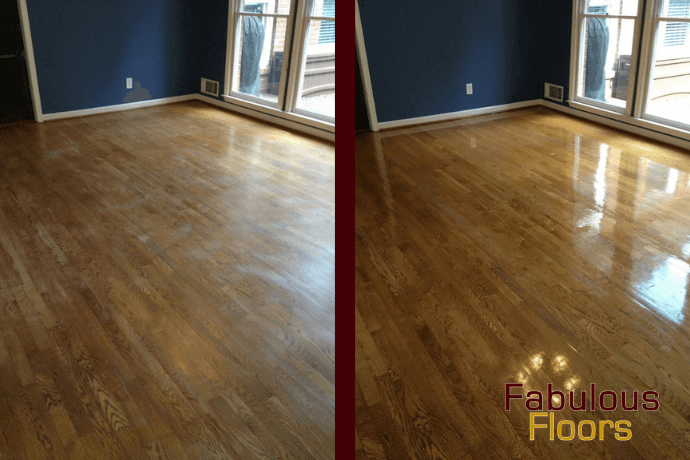 before and after hardwood floor resurfacing in john's creek, ga