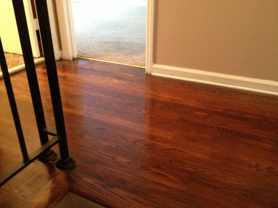 a wood floor after a Fabulous Floors refinishing